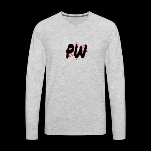 PW Bacon Red&Black - Men's Premium Long Sleeve T-Shirt