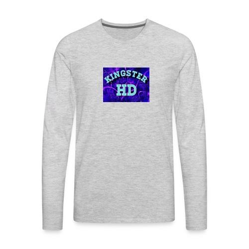 Kingsterhd poster t-shirt - Men's Premium Long Sleeve T-Shirt