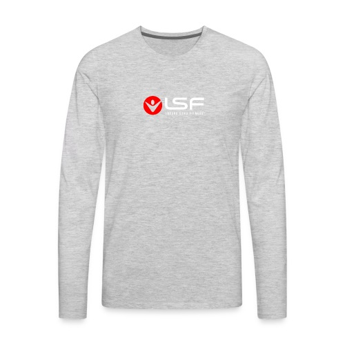 LSF Logo White - Men's Premium Long Sleeve T-Shirt