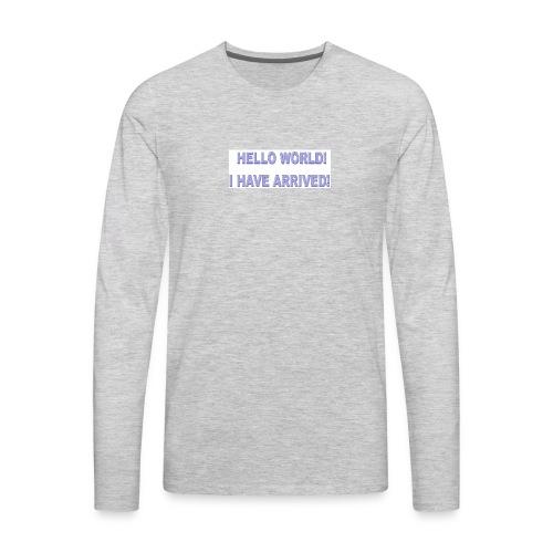 Hello World - Men's Premium Long Sleeve T-Shirt