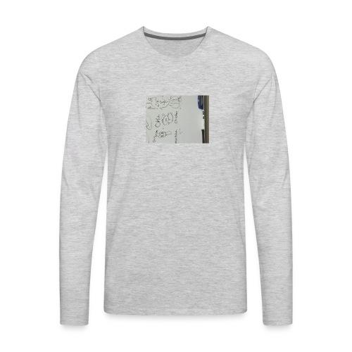 Okeh. Chicken drawing phone case - Men's Premium Long Sleeve T-Shirt