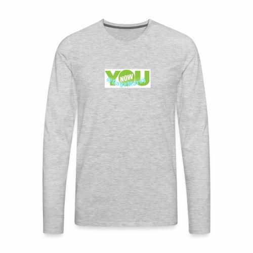 Younow logo - Men's Premium Long Sleeve T-Shirt