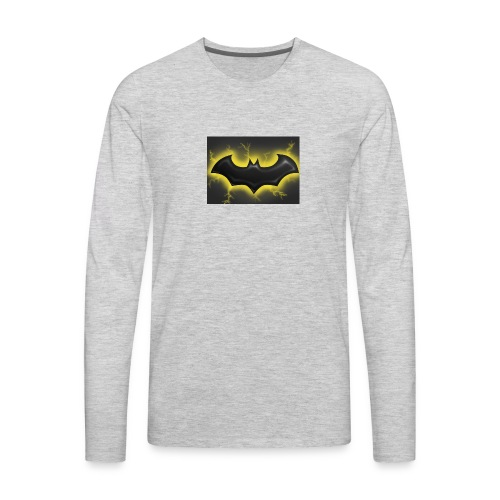 batman symbol by mushroomproductions d3d6cxs - Men's Premium Long Sleeve T-Shirt