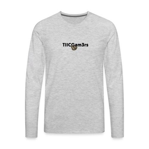 Sloth Hanging on Text - Men's Premium Long Sleeve T-Shirt
