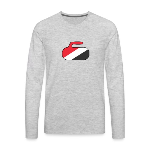 Sealand Curling Rock - Men's Premium Long Sleeve T-Shirt