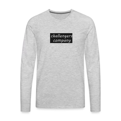 see through logo - Men's Premium Long Sleeve T-Shirt
