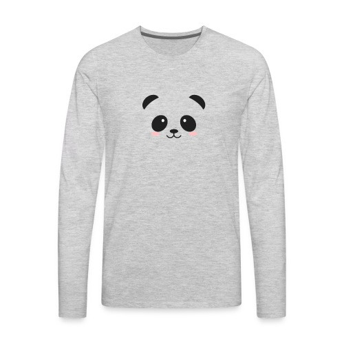 Panda Simple Face - Men's Premium Long Sleeve T-Shirt
