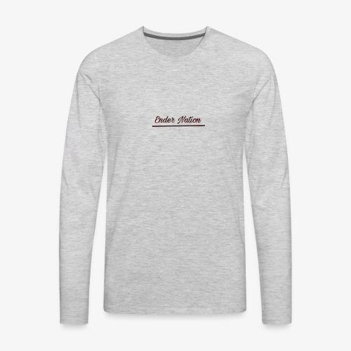 Underlined logo - Men's Premium Long Sleeve T-Shirt