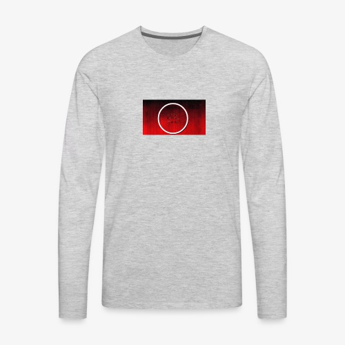 black red grunge texture at dragway 2017 15 - Men's Premium Long Sleeve T-Shirt