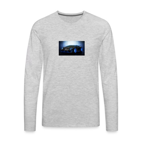 lamborghini black back ground - Men's Premium Long Sleeve T-Shirt