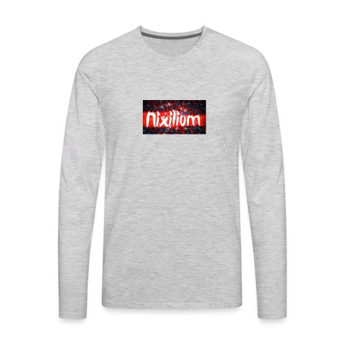 Official Nixilium Logo Shirts - Men's Premium Long Sleeve T-Shirt