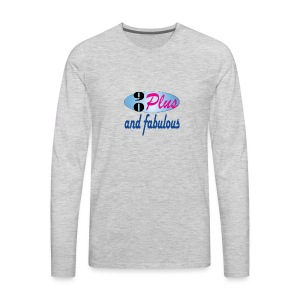 90plus and fabulous - Men's Premium Long Sleeve T-Shirt