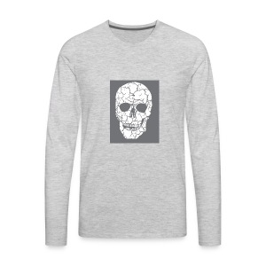 Skull Man Ultra Zombie Shirt - Men's Premium Long Sleeve T-Shirt