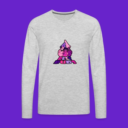 BEST BUDS PINK PURPLE - Men's Premium Long Sleeve T-Shirt