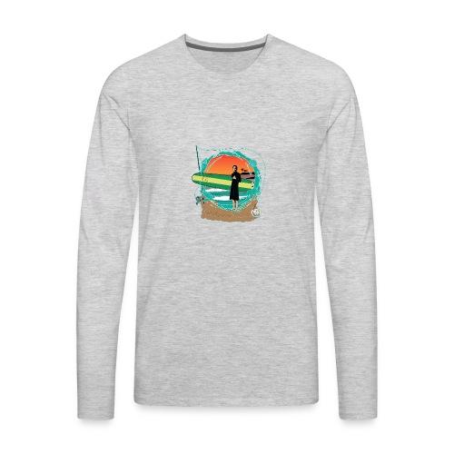 #foreverYoung Black Tee - Men's Premium Long Sleeve T-Shirt
