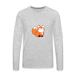 fat baby fox - Men's Premium Long Sleeve T-Shirt