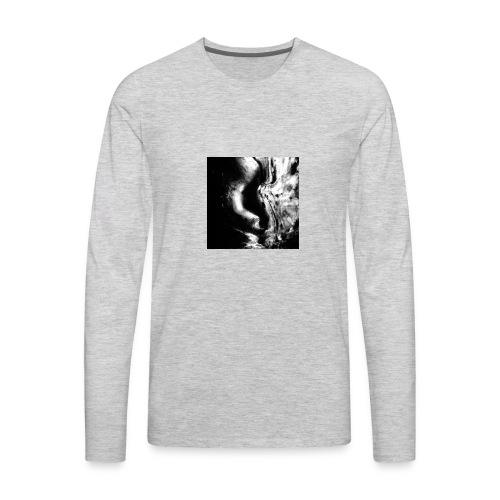 Black_and_White_Abstract_art - Men's Premium Long Sleeve T-Shirt