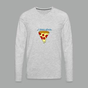 I love pizza - T-shirt Premium à manches longues pour hommes