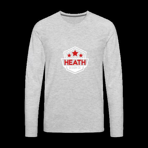 Red and White Logo - Men's Premium Long Sleeve T-Shirt