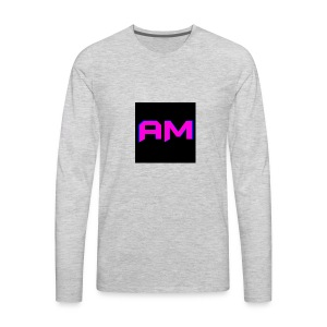 Pink, Blue, and black LOGO - Men's Premium Long Sleeve T-Shirt