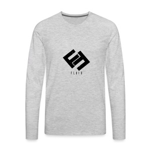 Fluid Logo - Men's Premium Long Sleeve T-Shirt