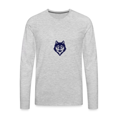 9a45729d3404bccd07a3281e8b3a12ec wolf stencil wol - Men's Premium Long Sleeve T-Shirt