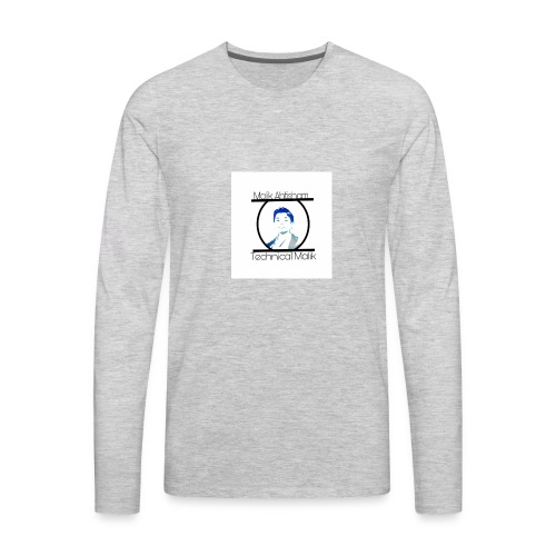 Technical Malik Logo - Men's Premium Long Sleeve T-Shirt
