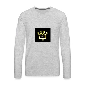 Crown RK Logo - Men's Premium Long Sleeve T-Shirt