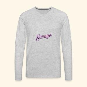 savage - Men's Premium Long Sleeve T-Shirt