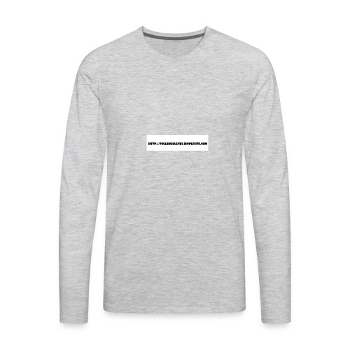 Nettadresse follebuvbs - Men's Premium Long Sleeve T-Shirt