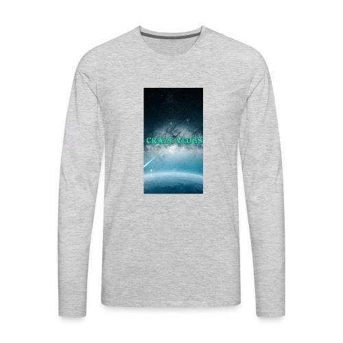 CRAZE VLOGS COVRS For iPhone 8 - Men's Premium Long Sleeve T-Shirt