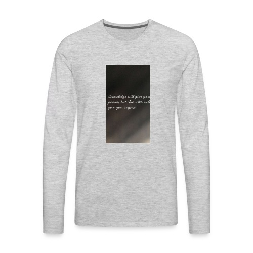 Knowledge - Men's Premium Long Sleeve T-Shirt