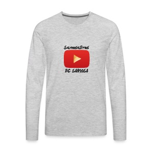 BC SAMOSA LOGO - Men's Premium Long Sleeve T-Shirt