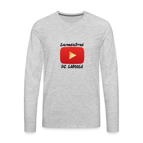 BC SAMOSA LOGO - Men's Premium Long Sleeve T-Shirt
