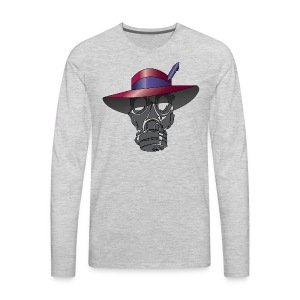 Zoot suit Hat and Gas Mask - Men's Premium Long Sleeve T-Shirt