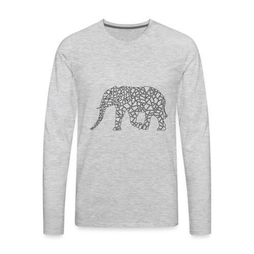 Elephant Geometric - Men's Premium Long Sleeve T-Shirt