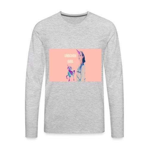 unicorn girls shirt - Men's Premium Long Sleeve T-Shirt
