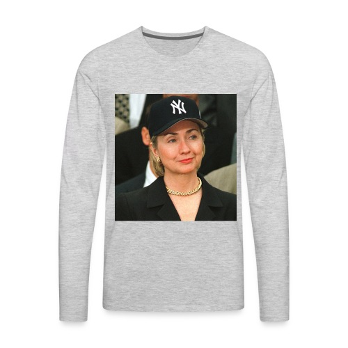 hillary_ny_large - Men's Premium Long Sleeve T-Shirt