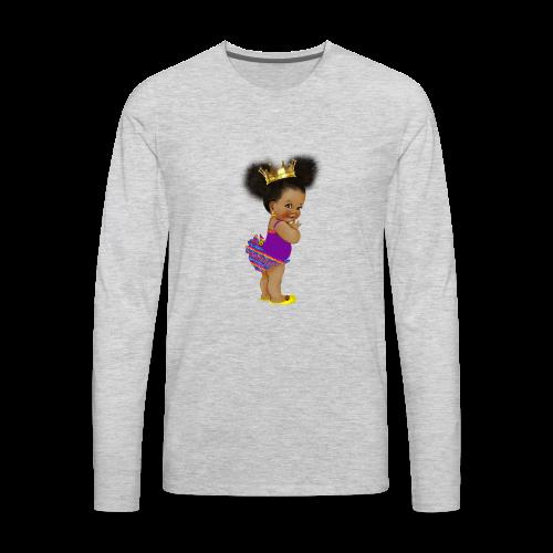 RPAfricanPrincess5-AfroPuffs - Men's Premium Long Sleeve T-Shirt