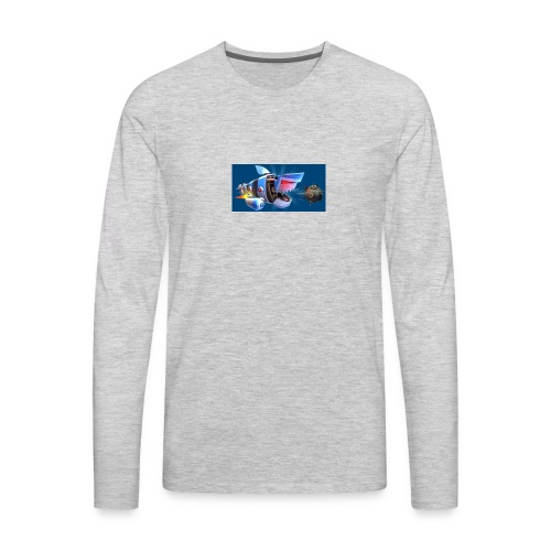 MightyJaws12 Logo - Men's Premium Long Sleeve T-Shirt