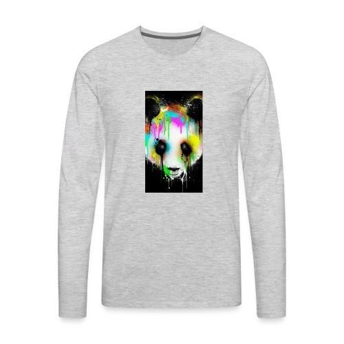 panda paint - Men's Premium Long Sleeve T-Shirt