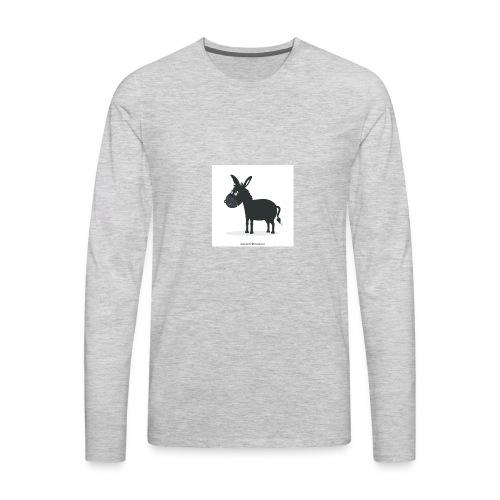 Awesome donkey animated - Men's Premium Long Sleeve T-Shirt