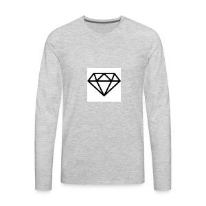 diamond outline 318 36534 - Men's Premium Long Sleeve T-Shirt