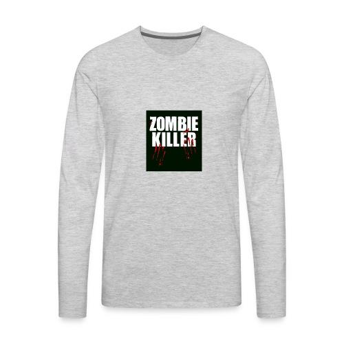 zombie killer shirt green - Men's Premium Long Sleeve T-Shirt