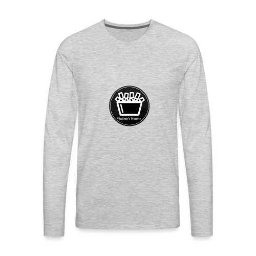 Vladimir s Poutine Logo - Men's Premium Long Sleeve T-Shirt