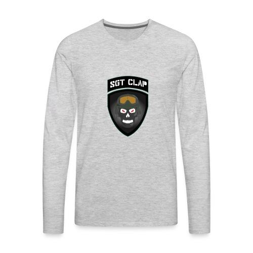 Sgt Clap Logo - Men's Premium Long Sleeve T-Shirt
