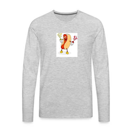 Hot dog t - Men's Premium Long Sleeve T-Shirt