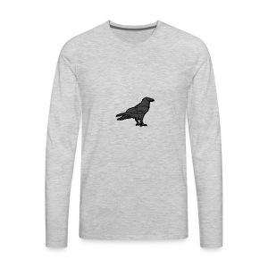 Raven's Nest Emblem - Men's Premium Long Sleeve T-Shirt