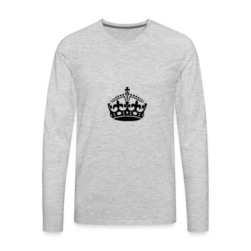 13625877091416650323keep calm crown hi - Men's Premium Long Sleeve T-Shirt