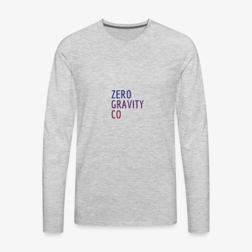 Zero Gravity Colorful Logo - Men's Premium Long Sleeve T-Shirt